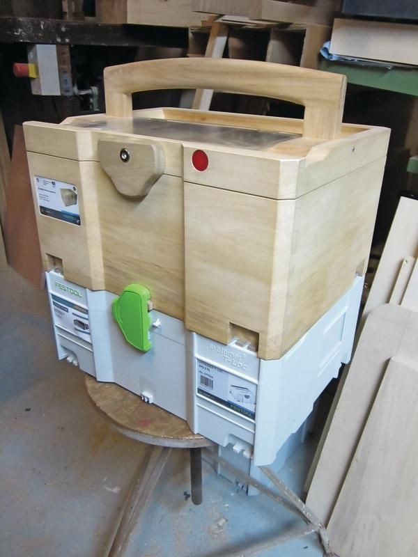 Wood Systainer Locked On Festool Systainer