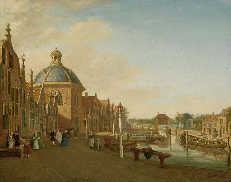 Canal in Leidschendam (Netherlands), by Paulus Constantijn la Fargue, 1756
