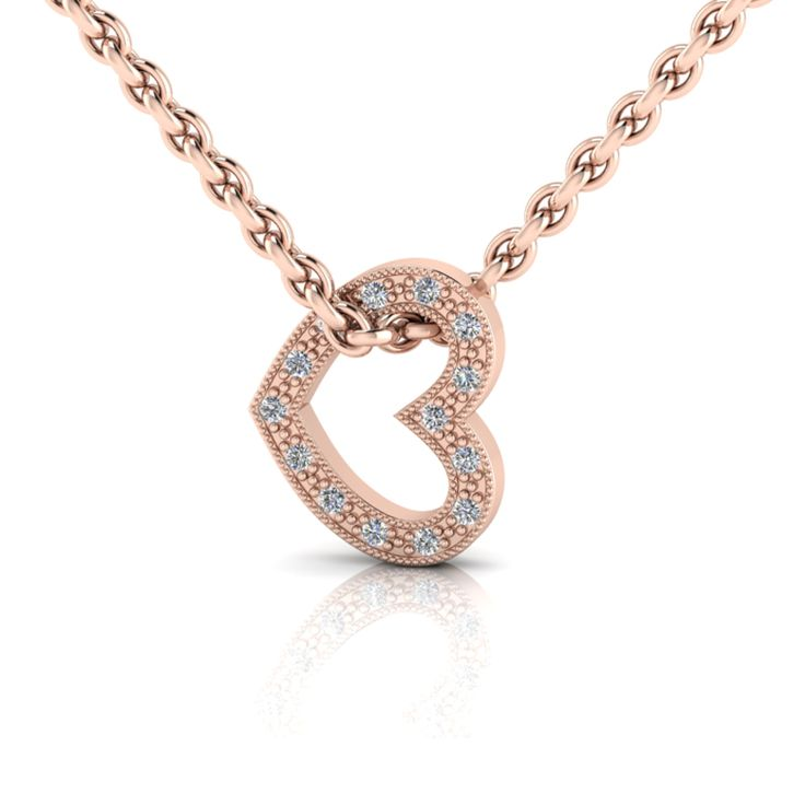 Silver Heart Diamond Pendant And Chain.  R2000  Product Code- WN00001