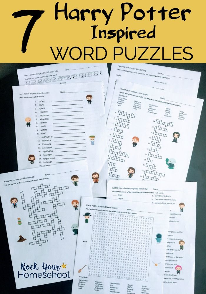 Harry Potter Inspired Word Puzzles For Learning Fun Activities Harry Potter School Harry Potter Words Harry Potter Classes
