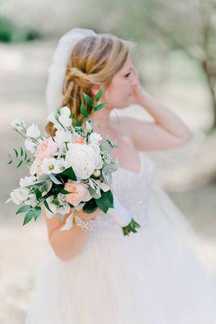 Сама нежность: свадебные букеты с пионовидными розами - The-wedding.ru