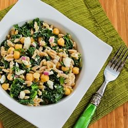 Whole Wheat Orzo Salad with Kale, Chickpeas, Lemon, and Feta  ohh, this looks good and I love KALE!