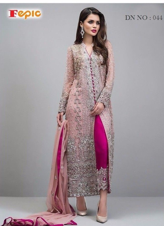 ac4a88a0297 Heavy Work Pakistani Salwar Kameez Designer Indian Wedding Bridal Party  Dress 44