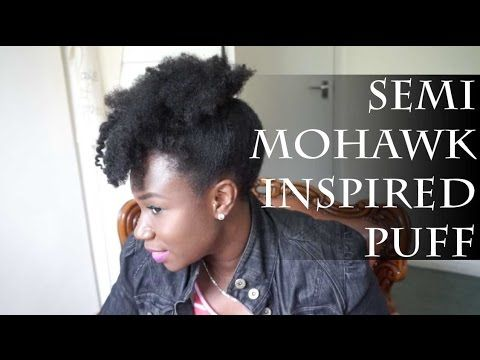 Semi Mohawk inspired Puff | natural hair ft Snappee
