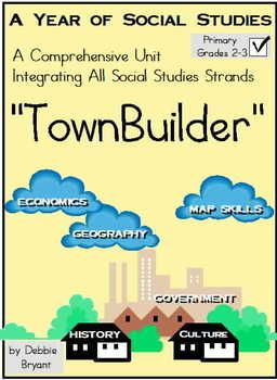 A Year of Social Studies! Grades 2-3 Would you like a program that engages your students in an ongoing, authentic project that integrates every Social Studies strand in the context of building your own class town? This 109 page TownBuilder includes a ready-to-copy 44 page Student Journal, accompanied by a comprehensive 51 page Teacher's Manual with detailed directions and pictures! Download the free preview for a good look at what's included.