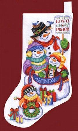 Janlynn Snow Folks Stocking Counted Cross Stitch by carolinagirlz2