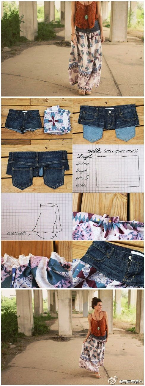 I like! Such a great way to use your favorite pair of jeans that have holes in the knee or worn out inner thigh (which is usually my problem!).