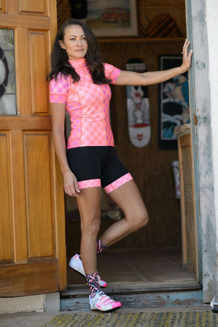 Women's cycling Gingham by shebeest! Feel comfortable and look great for that next ride! Perfect for road cycling, mountain biking, and triathlons!