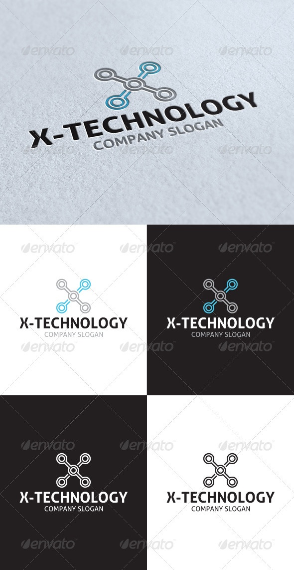 X Technology Logo - GraphicRiver Item for Sale