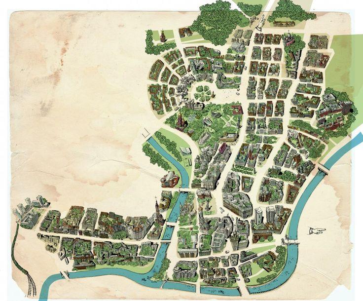 Tourist Map of Kharkiv historical centre