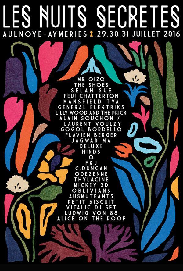 Festival Les Nuits Secrètes 2016 #music #festival #poster