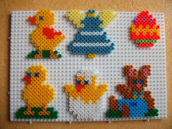 Easter oraments hama perler by mes-petites-creations-13