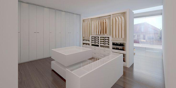 Vestidor en Dormitorio Principal. Vivienda Unifamiliar San Javier - Arquitania Business