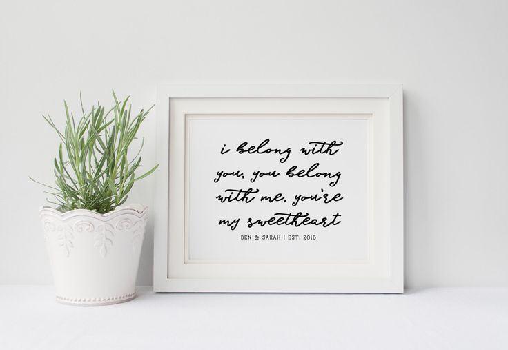 Personalized Wedding Song Poster- Ho Hey The Lumineers, I Belong With You, You Belong With Me, Wedding Gift Art Decor, Anniversary Gift Art by GenuineDesignCo on Etsy https://www.etsy.com/uk/listing/473059940/personalized-wedding-song-poster-ho-hey