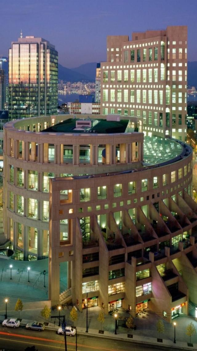 Vancouver Public Library, British Columbia, Canada, North America, Geography, Building,