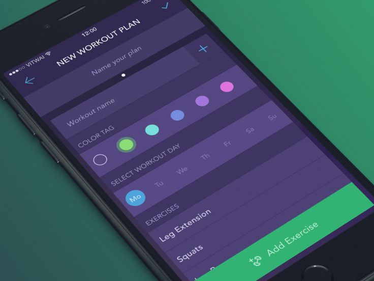 Dribbble - Add Exercises Interaction by Vitaly Rubtsov
