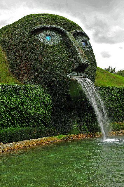 Swarovski Kristallwelten, Wattens, Austria - what a cool garden, fountain LOL