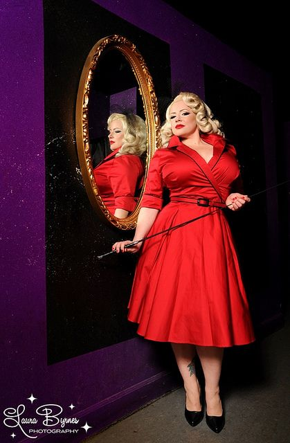 Dying over this red plus size PinUp Girl Clothing dress!
