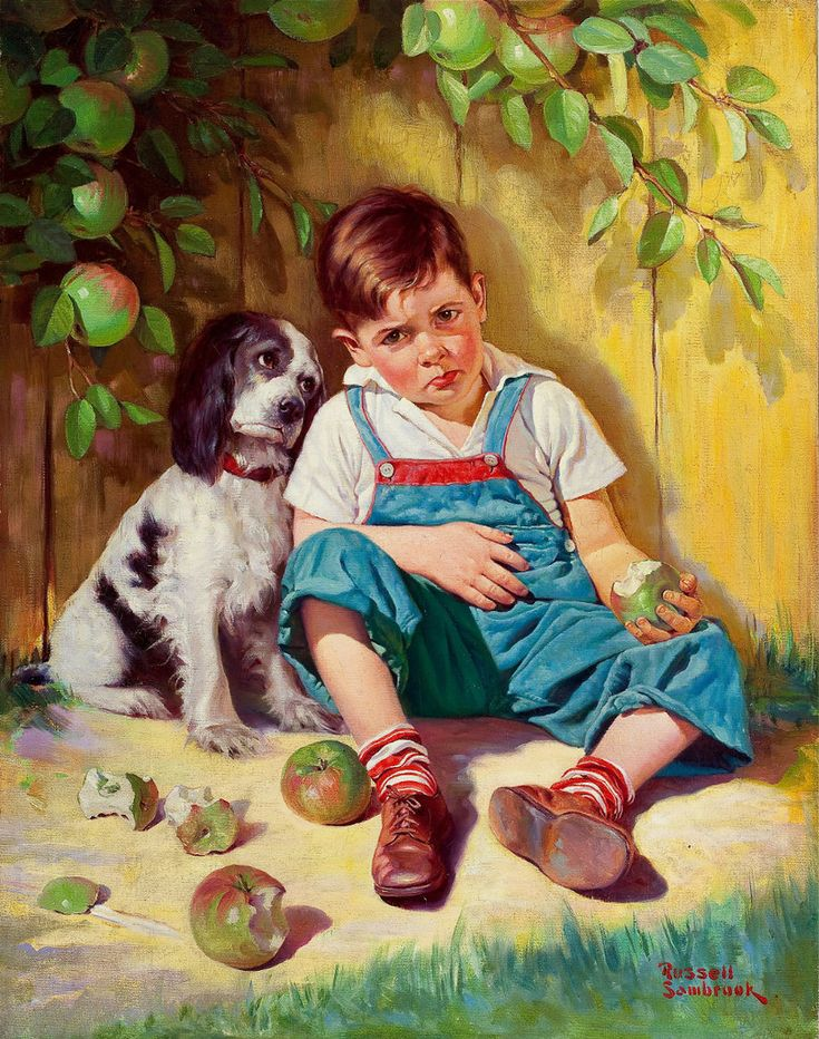 Картинка собачка с мальчиком