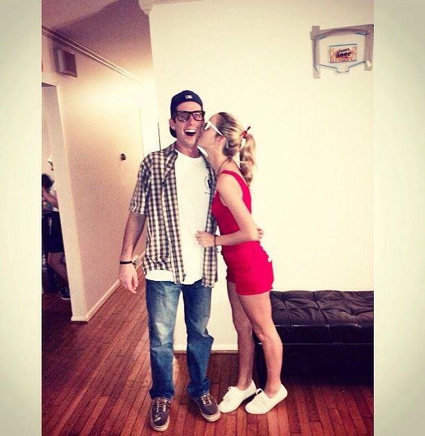 Squints & Wendy Peffefcorn DIY couple costume from The Sandlot