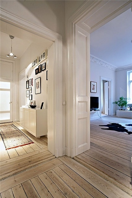 These floors are gorgeous. They can add a beautiful shabby vibe to the most contemporary of living spaces.