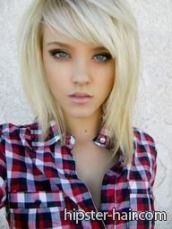 blonde, medium, straight hair at Hipster Hair : Hairstyle Photo Search