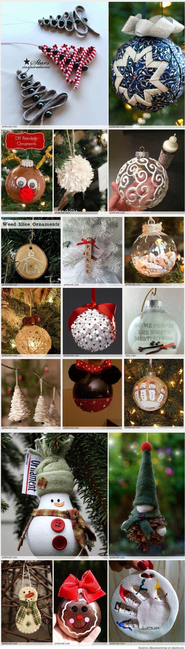 Easy Homemade Ornaments 112 best Christmas Ideas