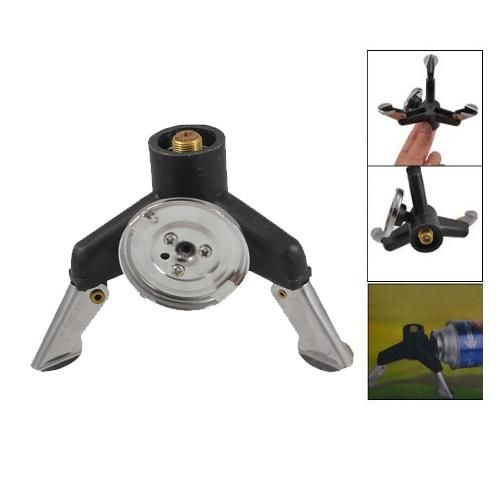 [Visit to Buy] New Sale Three-leg Transfer Head Adaptor Nozzle Gas Bottle Screw gate Camping Stove Gear #Advertisement