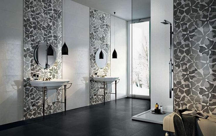 Abbinamenti pavimento grigio - Piastrelle grigie e arredi minimal in bagno