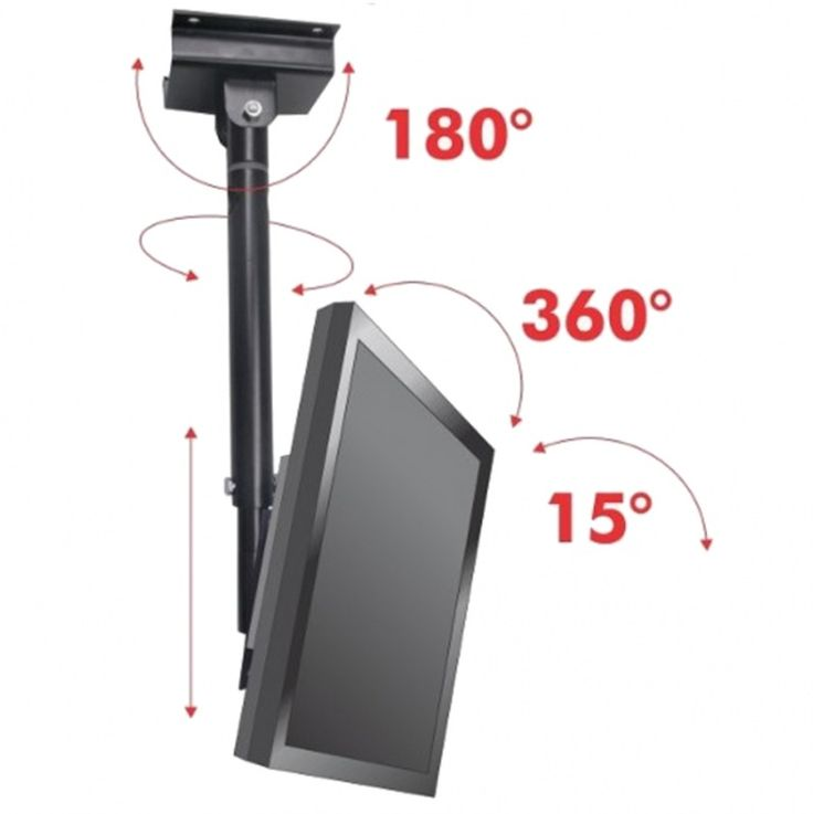 Suporte Tv Teto Articulado Primetech 22 a 47 - 360º -Plasma Lcd e Led