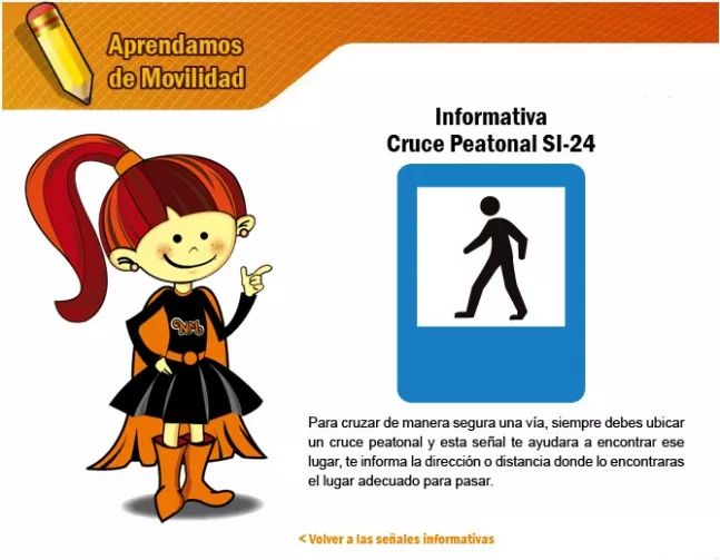Las señales informativas 6 - Secretaria Distrital de Movilidad