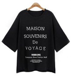 SHARE & Get it FREE | Stylish Letter Print Round Neck 1/2 Sleeve T-Shirt For WomenFor Fashion Lovers only:80,000+ Items • New Arrivals Daily • Affordable Casual to Chic for Every Occasion Join Sammydress: Get YOUR $50 NOW!