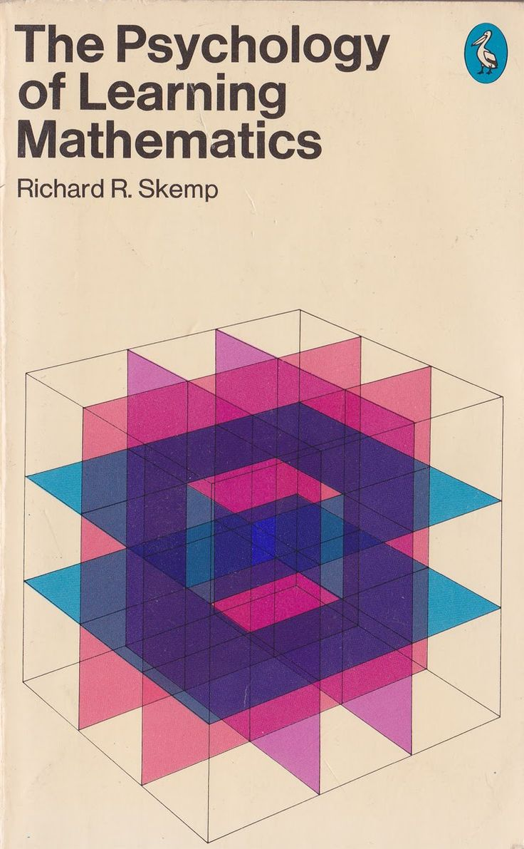 My favorite and worst subjects in a book.....?  Psychology of Learning Mathematics - Richard Skemp - 1979  Pelican  Cover design by Patrick McCreeth
