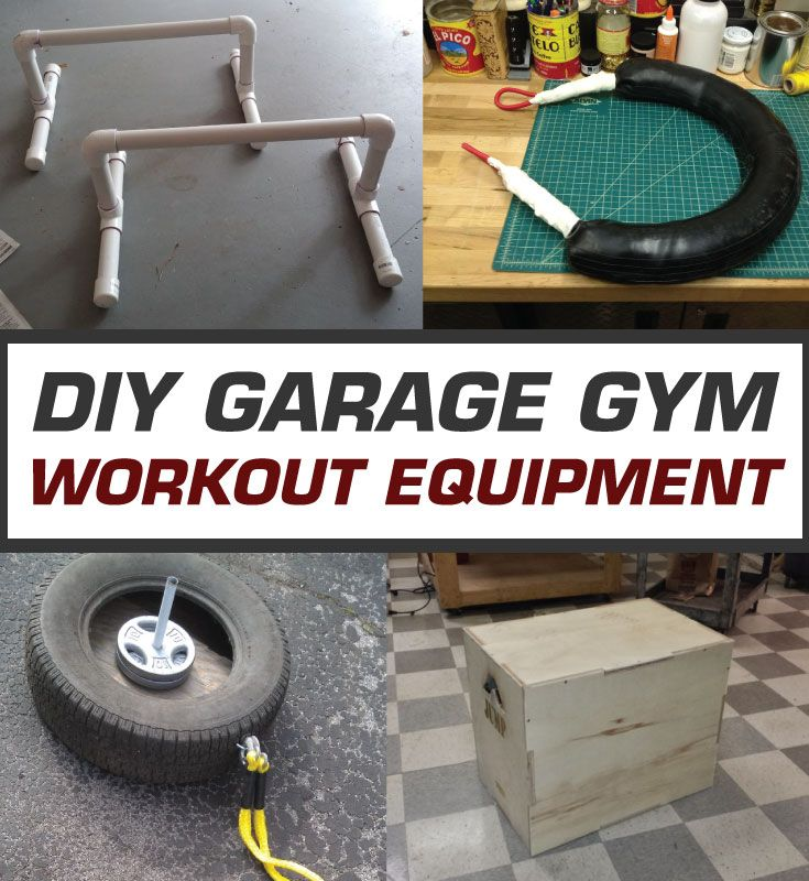 DIY: Homemade Garage Gym Workout Equipment – 36 Cool How-To Projects