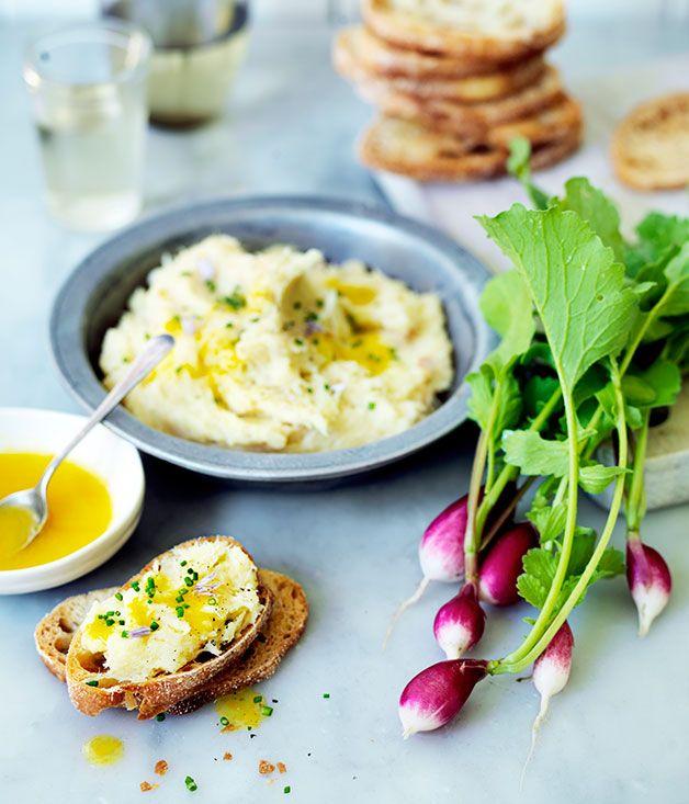 Salt cod brandade with radish and citrus dressing :: Gourmet Traveller ...