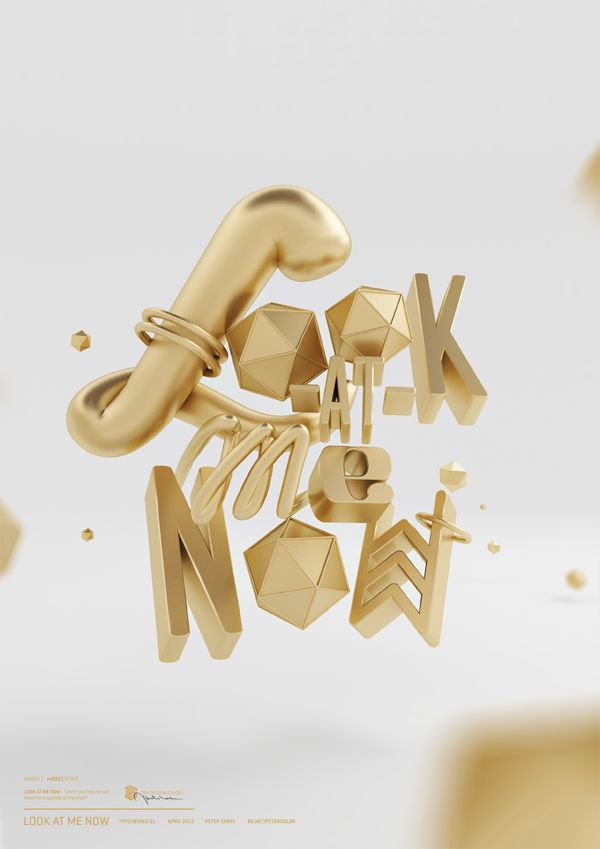 The type here isn't that good, but what caught my attention was the extreme depth of focus that puts this 3D type experiment a cut above most pieces in this genre.