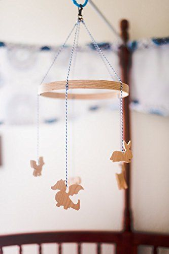 Handcrafted Wooden Animal Mobile: Our Cute Woodland Baby Nursery Crib Mobile is a wonderful way to decorate the crib for your baby. We catch our baby boy staring at his wooden animal mobile till he falls asleep…. We also built the best baby mobile crib to be able to spin so he can gaze and marvel at the cute animals...  toys4mykids.com