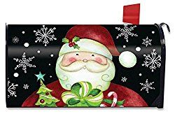 Here Comes Santa Christmas Magnetic Mailbox Cover Presents Holiday Standard