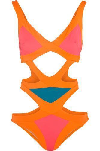 Mazzy Popstar cutout swimsuit #bathingsuit #beachtrip #vacation #sunny #women #covetme #agentprovocateur