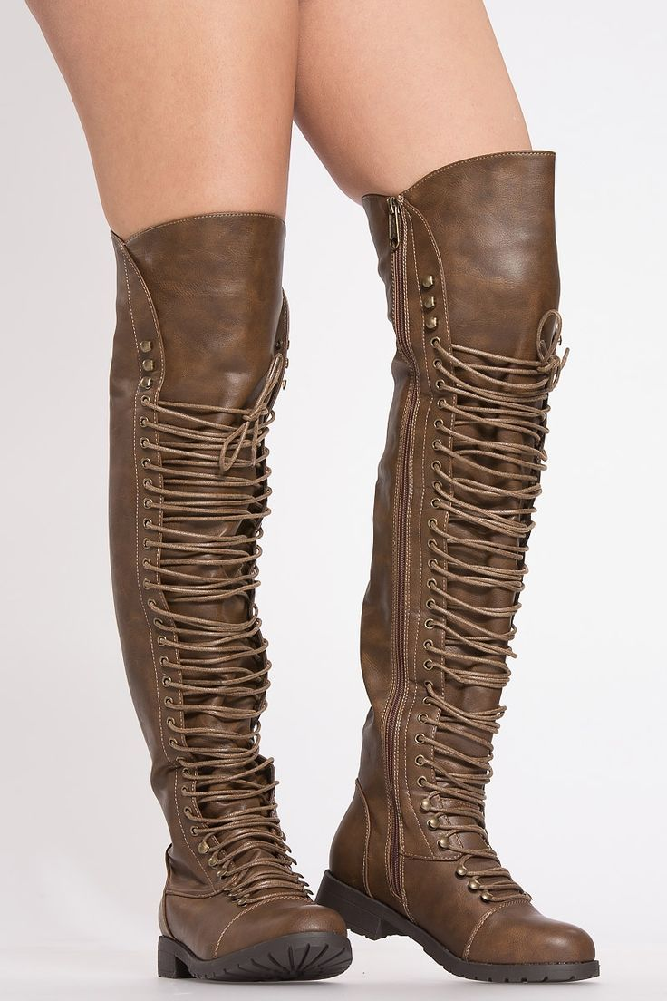 a8ccc9c272fa5 Light Brown Leather Thigh High Combat Boots @ Cicihot Boots Catalog ...