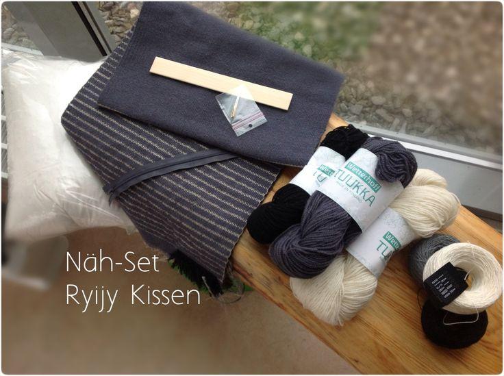 Tolle Alternative zum Wandteppich - ein Ryijy Kissen als Näh-Set / DIY Kit.