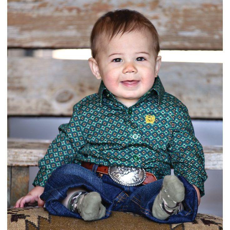 infant boys western wear cinch | CINCH - Cinch Toddler Green and Yellow Print Shirt - NRSworld.com
