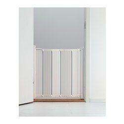 IKEA - PATRULL, Schutzgitter, Kann an Innen- bzw. Außenseiten von Türen oder am unteren Ende von Treppen montiert werden - wo immer man die Kindersicherheit erhöhen will.Das Gitter lässt sich mit einer Hand öffen und schließen; da dies in zwei Schritten geschieht, können Kleinkinder es nicht selbst öffnen.Wird das Gitter geöffnet, legt es sich automatisch wie ein Akkordeon zusammen und nimmt so nur wenig Platz in Anspruch.