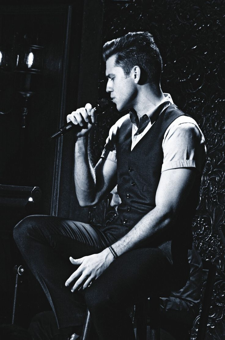 Aaron Tveit. I liked him on Gossip Girl. Then I saw him sing. Then I saw him play Roger in Rent.. I think I'm in love..