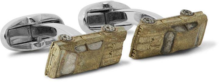 Paul Smith Car Copper Silver-Tone Cufflinks