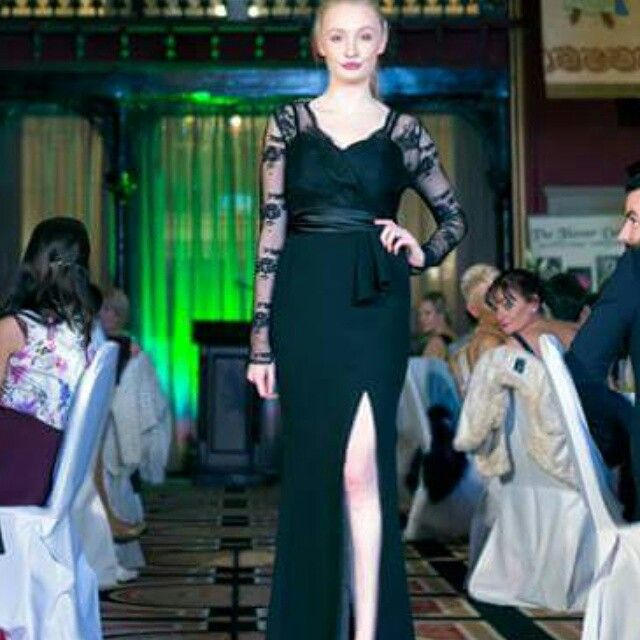 Black lace dress by Geraldine O'Meara designs