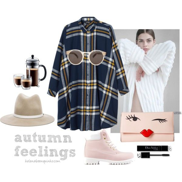 Autumn Feelings by helenabranquinho on Polyvore featuring moda, Monki, Nly Shoes, Kate Spade, rag & bone, Illesteva, autumn and styling