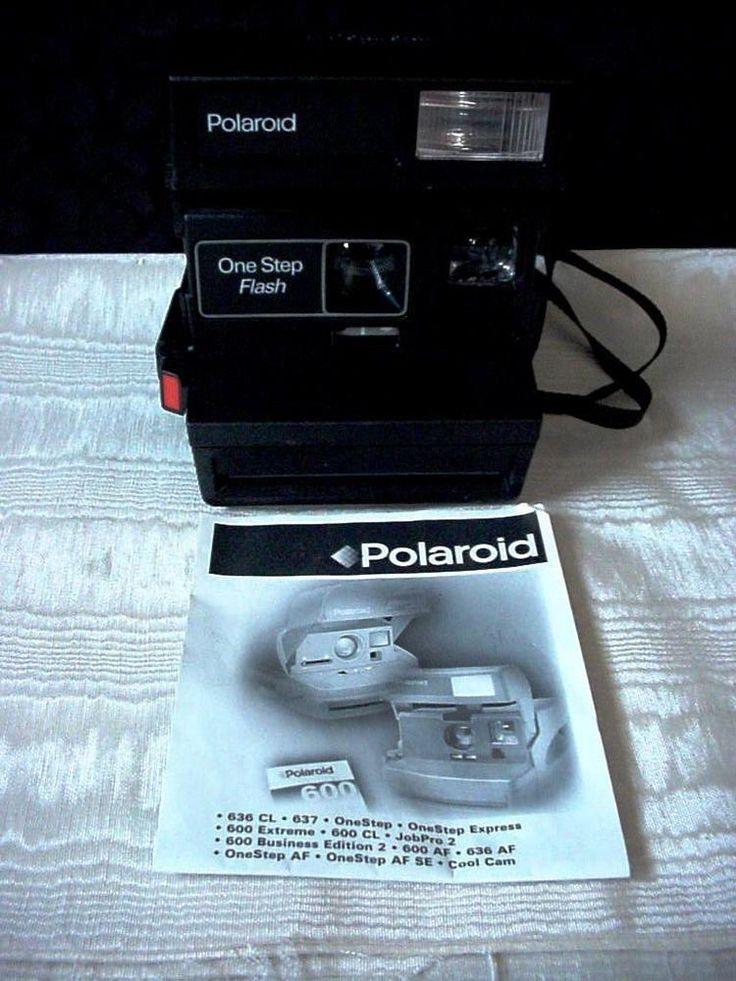 Vintage Polaroid Camera 600 One Step Flash Used Working Condition #Polaroid