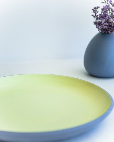 Store | Six By Eight | Makers | Large serving platter - lavender/butter