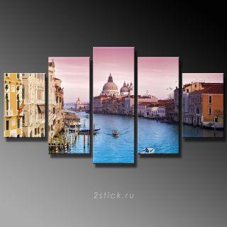 Модульная картина от 2stick.ru Пурпурное небо Венеции